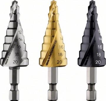 Stupňovité vrtáky HSS-TiN 4 - 20 mm, 70,5 mm BOSCH 2608587433