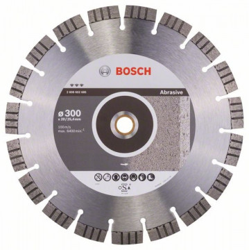 BOSCH Diamantový dělicí kotouč Best for Abrasive 300 x 20,00+25,40 x 2,8 x 15 mm 2608602685