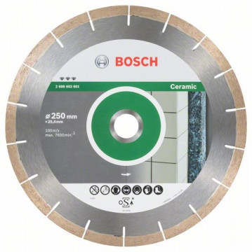 BOSCH Diamantový dělicí kotouč Best for Ceramic and Stone 250 x 25,40 x 1,8 x 10 mm 2608603601