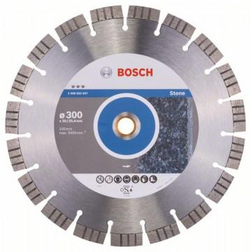 BOSCH Diamantový dělicí kotouč Best for Stone 300 x 20,00+25,40 x 2,8 x 15 mm 2608602647