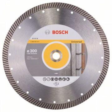 BOSCH Diamantový dělicí kotouč Best for Universal Turbo 300 x 20,00+25,40 x 3 x 15 mm 2608602677