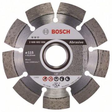 BOSCH Diamantový dělicí kotouč Expert for Abrasive 115 x 22,23 x 2,2 x 12 mm 2608602606