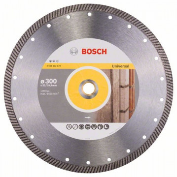 BOSCH Diamantový dělicí kotouč Expert for Universal Turbo 300 x 20/25,40 x 2,2 x 12 mm 2608602579
