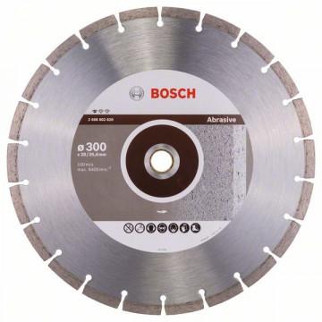 BOSCH Diamantový dělicí kotouč Standard for Abrasive 300 x 20/25,40 x 2,8 x 10 mm 2608602620