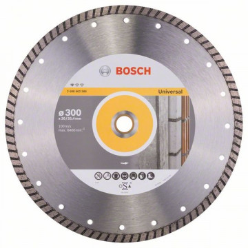 BOSCH Diamantový dělicí kotouč Standard for Universal Turbo 300 x 20/25,40 x 3 x 10 mm 2608602586