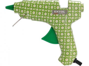 EXTOL CRAFT Pištoľ tavná lepiaca, kvetinová, ∅11mm, 40W