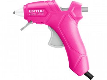 EXTOL LADY Pištoľ tavná, lepiaca (ružová) 422003