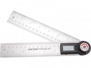 EXTOL PREMIUM Uhlomer digitálny s pravítkom, 200mm