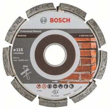 BOSCH Frézy na spáry Expert for Mortar 115 x 6 x 7 x 22,23 mm 2608602533
