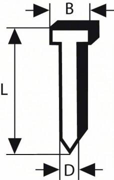 Bosch Hřeb se zápustnou hlavou SK64 25NR 1,6 mm, 25 mm, nerezový (A2/1,4301)