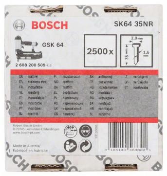 Bosch Hřeb se zápustnou hlavou SK64 35NR 1,6 mm, 35 mm, nerezový (A2/1,4301)