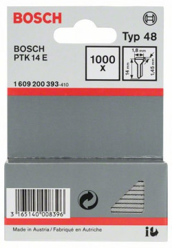 Hřebíčky, typ 48 1,8 x 1,45 x 14 mm BOSCH 1609200393