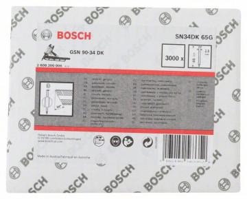 Bosch Hřebíky s hlavou tvaru D v pásu SN34DK 65G 2,8 mm, 65 mm, pozinkovaný, hladký