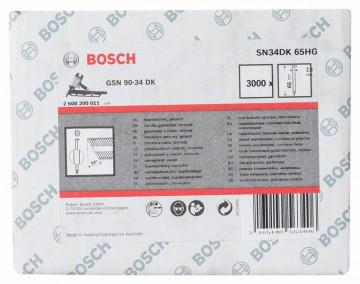 Bosch Hřebíky s hlavou tvaru D v pásu SN34DK 65HG…