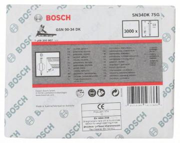 Bosch Hřebíky s hlavou tvaru D v pásu SN34DK 75G…