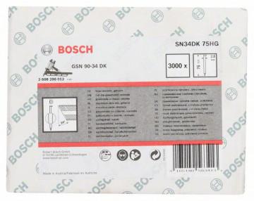Bosch Hřebíky s hlavou tvaru D v pásu SN34DK 75HG 2,8 mm, 75 mm, žárově pozinkovaný, hladký