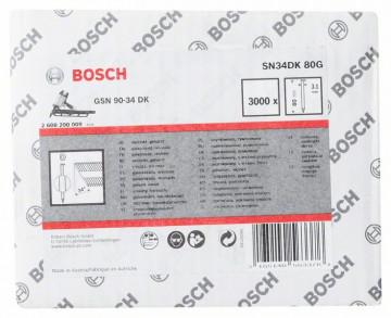 Bosch Hřebíky s hlavou tvaru D v pásu SN34DK 80G…