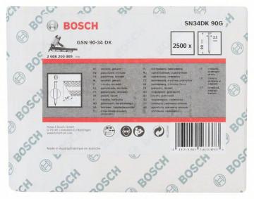 Bosch Hřebíky s hlavou tvaru D v pásu SN34DK 90G…