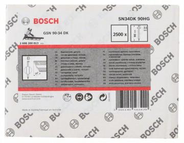 Bosch Hřebíky s hlavou tvaru D v pásu SN34DK 90HG…