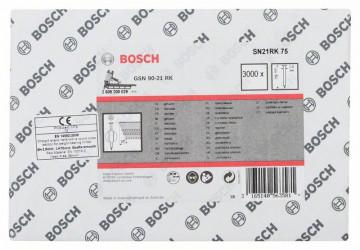 Bosch Hřebíky s kulatou hlavou v pásu SN21RK 75 2,8 mm, 75 mm, bez povrchové úpravy, hladký