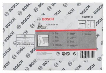 Hřebíky s kulatou hlavou v pásu SN21RK 80 3,1 mm, 80 mm, bez povrchové úpravy, hladký BOSCH 2608200030