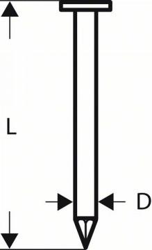 Bosch Hřebíky s kulatou hlavou v pásu SN21RK 80G 3,1 mm, 80 mm, pozinkovaný, hladký