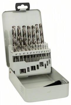 Kovová kazeta s 19dílnou sadou vrtáků do kovu HSS-G, DIN 338, 135° 1-10 mm, 135° BOSCH 2607018726