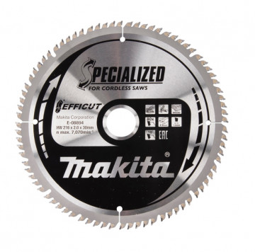 Makita TCT pílový kotúč Efficut 216 mm x 30 mm…