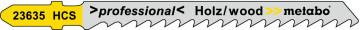 METABO - 3 plátky pro přímočaré pily, dřevo, profesionální 74 / 4,0 mm