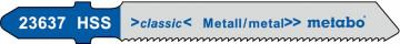 METABO - 3 plátky pro přímočaré pily, kov, classic, 51/ 1,2 mm