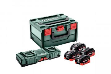 Metabo Základní sada 4x LiHD 10 Ah + ASC 145 DUO + Metabox 685143000