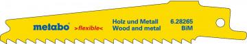 Metabo 5 plátků pro pily ocasky, dřevo a kov, flexible, 100x0,9 mm