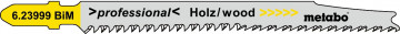 "METABO - 5 PLÁTKŮ PRO PŘÍMOČARÉ PILY ""CLEAN WOOD PREMIUM"" 93/ 2,2 MM - 623999000"