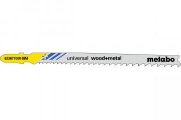 """METABO - 5 PLÁTKŮ PRO PŘÍMOČARÉ PILY """"UNIVERSAL WOOD + METAL"""" 106 MM/PROGR. - 623677000"""