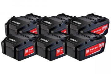 Metabo Sada 6x LI-POWER akumulátor 625152000