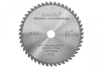 Metabo Aluminiumcutprof 165X20 Z48 FZ/TR -5°