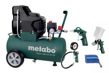 METABO Kompresor Basic 250-24 W OF + set se sadou pneumatického příslušenství LPZ 4 Set 690865000