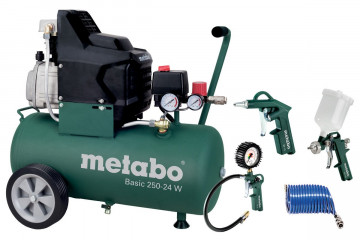 METABO Basic 250-24 W Set (690836000) Kompresor…