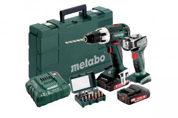 Vrtací šroubovák METABO BS 18 LT Set (602102540)