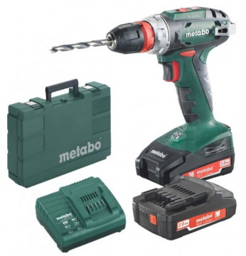 Aku vrtačka METABO BS 18 Quick 2x2,0 Li-Power,SC60 602217500