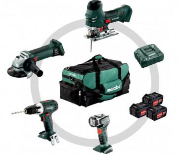 Metabo Akumulátorové stroje v sadě BS 18 LT + STA 18 LTX 140 + W 18 LTX 125 Quick + ULA Combo Set 4.2 691013000
