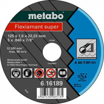 METABO - FLEXIARAPID SUPER 125X1,0X22,23 OCEL, TF 41 (616189000)