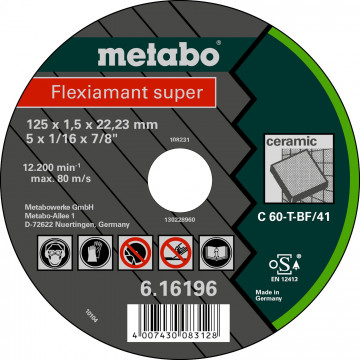 METABO Flexiamant super 125x1,5x22,23 keramika,TF41, 616196000