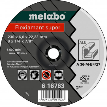 METABO - Flexiamant super 125x6,0x22,23 hliník, SF 27 - 616749000