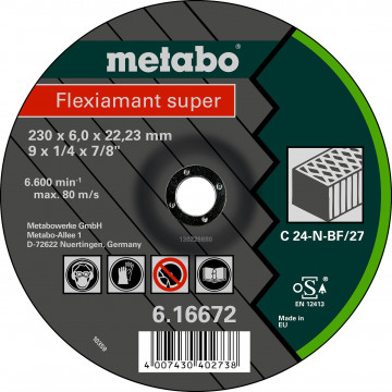 METABO - Flexiamant super 230x6,0x22,23 kámen, SF 27 - 616672000