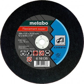 Metabo - Fleximant super 300X3,5X22,2 ocel, TF 41 (616135000)