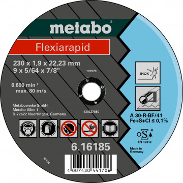 METABO - FLEXIARAPID 180X1,6X22,23 INOX, TF 41 …