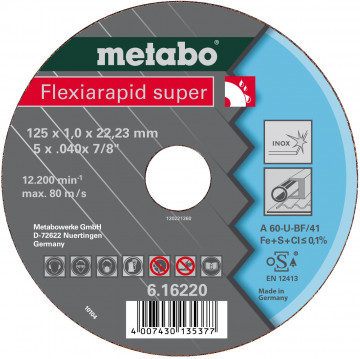 METABO - FLEXIARAPID SUPER 115X1,0X22,23 INOX, TF 42 (616217000)