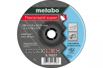 METABO - FLEXIARAPID SUPER 180X1,6X22,23 INOX, TF 42 (616227000)