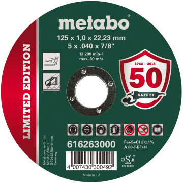 METABO - Limited Edition 125 x 1,0 x 22,23 Inox, TF 41